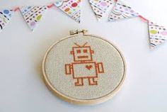 Image result for robot cross stitch