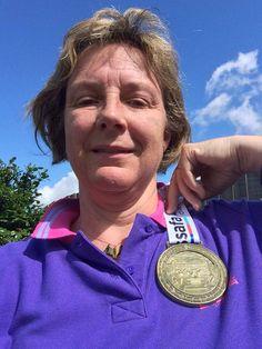 Congratulations Lynn! A D-Day race finisher.