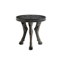 Marimba Round Zebra Accent Table By Tommy Bahama - Frontgate, Patio Furniture