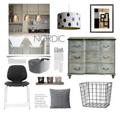 """""""Nordic"""" by viannmarie ❤ liked on Polyvore featuring interior, interiors, interior design, home, home decor, interior decorating, Muuto, H&M, Currey & Company and Normann Copenhagen"""