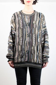Vintage 90s Sweater Cozy Textured Knit Coogi by ShopTwitchVintage