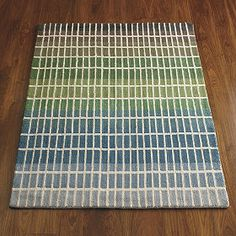 Ombre Stripe Rug | The Company Store...would be great in more vibrant cool colors