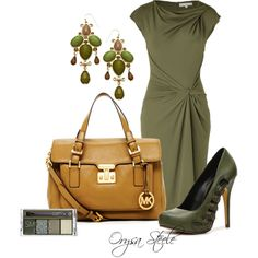 """Beautiful - """"Olive Knot Dress"""" by orysa on Polyvore"""