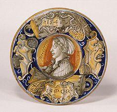 Dish  -   Date:1546  -  Culture:  Italian (Castel Durante), probably  -   Medium:  Maiolica (tin-enameled earthenware)