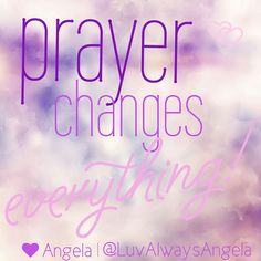 Prayer is amazing! Just because you're praying and you don't see things change immediately it doesn't mean that God isn't working. Be patient continue to pray and wait to hear from Him. Your prayer may not be answered the way you think it should, but the situation may change or for your reaction to the situation may change.  Prayer changes everything!  #Prayer #patientlywaiting #Patience #LetGodLead #GodGuidance #God #christian #ChristianLifestyle