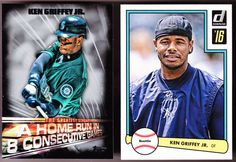 SEATTLE MARINERS LOT OF 2 DIFFERENT 2016 KEN GRIFFEY JR INSERTS DONRUSS & TOPPS  #SeattleMariners