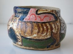 Michael Frimkess (Thrown Stoneware) Magdalena Suarez Frimkess (Painted Glaze) UPDATE: This baby is coming home with me!
