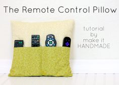DIY: Sew Cool Remote Caddy Pillow // Check your local #TuesdayMorning for fat quarter fabric