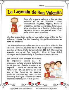 La Leyenda de San Valentin: This lesson is developed for a Spanish language class.  It includes a bilingual reading on the legend of St. Valentine, 3 vocabulary exercises, reflexive verbs, grammar and more.