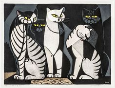 Inagaki Tomoo | Artist's Network | Drawing Cats