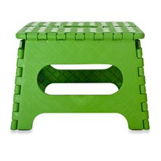 Kikkerland step stool - Real Simple's choice for best stool for kids. $15 (so, $12, since it's at BBB) and also available in other colors. Will want for the bathroom.