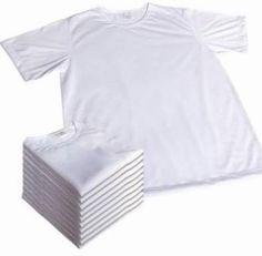 Camiseta Infantil 100% Poliester A Melhor Para Sublimação - R$ 4,45