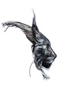 Hammered Steel Animal Head Sculptures by Selçuk for .More info:.Yılmaz,https://www.behance.net/selcukylmz. #gallery #inspire #art #illustration #drawing #draw #photo #photos #picture #artist #people