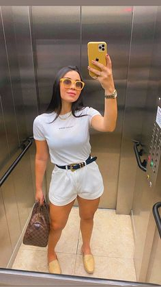 Cute Casual Outfits, Short Outfits, Chic Outfits, Casual Chic, Spring Outfits, Fashion Outfits, Womens Fashion, Looks Chic, Casual Looks