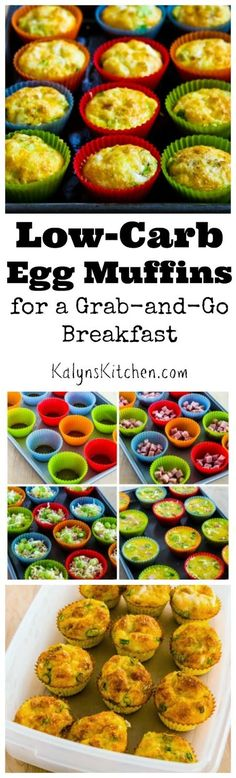 These low-carb and gluten-free egg muffins are made of eggs, veggies, cheese (and optional meat) for a perfect grab-and-go breakfast! And i...