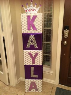 Name boxes for Baby Showers