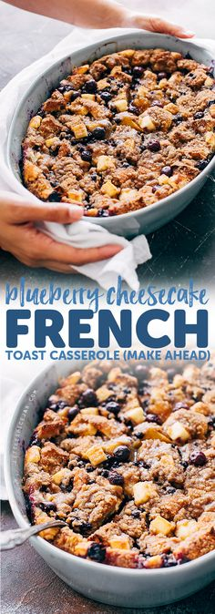Blueberry Cheesecake French Toast Casserole Recipe | Little Spice Jar Healthy Casserole Recipes, Sweet Breakfast Casserole Recipe, Blueberry French Toast Casserole, French Tost Casserole, Healthy Potato Recipes, Overnight French Toast Casserole, Sweet Potato Recipes, Cauliflower Recipes, Casseroles Healthy