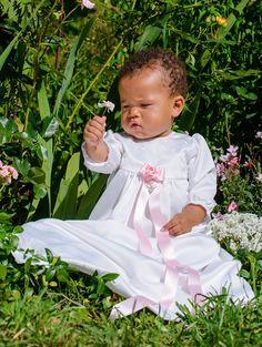 Dopklänning Flower, Christening gown, baptising dress, dop,