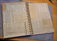 It was time for a new journal and I wanted to try something bigger than I'm used to working in.  Allen and I went to the library and hit th...