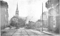 Destruccion de inmuebles y fabricas en primera guerra mundial. Francia y Bélgica fueron los paises mas afectados, pues los combates mas violentos se desarrollaron en su territorio.