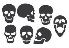 halloween skull silhouettes - Google Search