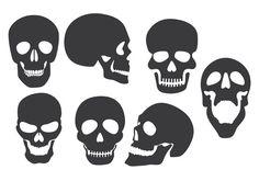 halloween skull silhouettes - Google Search