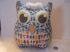 Doctor Who Fabric  Hoot Owl Stuffed Toy by BuffysStuff on Etsy, $22.00