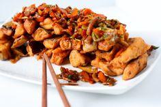 Bundáspadlizsán - spooon Kung Pao Chicken, Paleo, Vegetables, Ethnic Recipes, Food, Veggies, Essen, Vegetable Recipes, Yemek