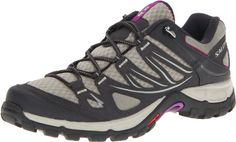 Salomon Women's Ellipse Aero W Hiking Shoe,Dark Titanium/Black/Anemone Purple,9.5 M US [SHOES & HANDBAGS]