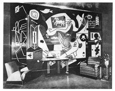 "Stuart Davis. ""Mural"". Men's lounge, Radio City Music Hall. 1932."