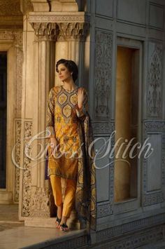 Cross Stitch Eid Lawn Vo 2 Prints 2014, Cross Stitch Ramadan Eid Dresses Design 2014