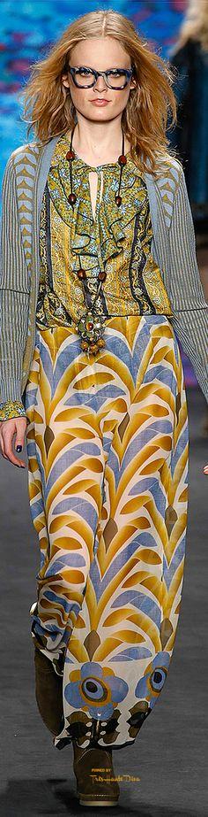 New York Fashion Week Anna Sui Fall 2015 #NYFW #AnnaSui