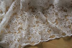 White Lace Fabric, Wedding Lace Fabric, Floral Tulle Lace Fabric, 47 inches Wide for Wedding Dress, Apparel, Costume, Craft Making 1/2 Meter by LaceNTrim on Etsy