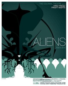 We also super love this Aliens poster by Tom Whalen.  This hangs on the same wall as that Zombie poster.  If Tom Whalen isn't careful we'll have a full wall of his things before long!