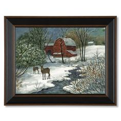 Artist Bonnie Fisher creates natural scenes, such as this, to bring out the beauty of the winter season.
