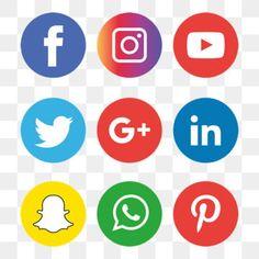 social media icons set logo, Social Media Icons, Social Media, Social Media Logo PNG and Vector Icon Design, Design Set, Web Design, Graphic Design, Social Media Buttons, Social Media Banner, Adobe Illustrator, Instagram Logo, Facebook Instagram