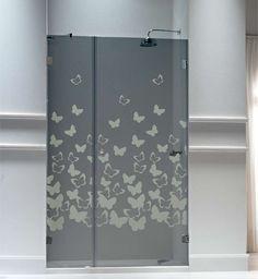 mamparas de vidrio - Buscar con Google Glass Door, Glass Shower Doors, Etched Glass Door, Locker Storage, Sand Glass, Shower Doors, Mirror Decor, Bathroom Shower, Glass Design