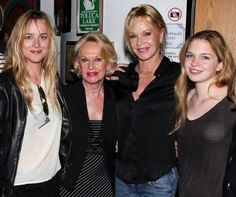 Dakota Johnson, Tippi Hedren, Melanie Griffith, Stella Banderas...... Grandma. mom. daughters, grand daughters, daughter
