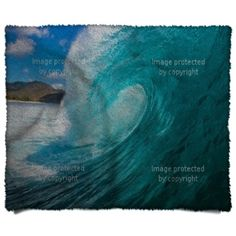 An ocean wave Barrel Blanket is a great addition to any ocean, surger, or tropical themed custom bedroom. See more at http://www.visionbedding.com/barrel_blankets-d-7211025-197-821.asp