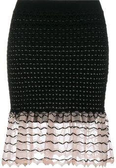Alexander McQueen ruffled knit skirt | #Chic Only #Glamour Always #BlackFriday