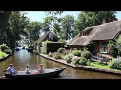 "Giethoorn is a town in the province of Overijssel, Netherlands. The village is often referred to as ""Little Venice"" or the ""Venice of the Netherlands"". The Province, Travelogue, Present Day, World History, Videos Funny, Netherlands, Venice, Holland, House Styles"