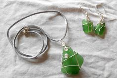 handcrafted wire wrapped genuine Irish sea glass by terramor