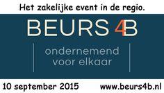 Wij zijn mediapartner van Beurs4B, hèt zakelijke event in de regio Oost.