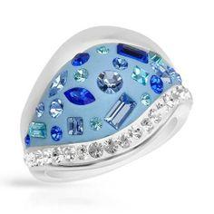 Sterling Silver Crystal Ladies Ring. Ring Size 6. Total Item weight 8.3 g. VividGemz. $35.00
