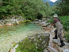 Fishing the Lepena River  www.sloveniaflyfishing.com #toptraveldestination #traveldestination #flyfishing #sloveniaflyfishing #baca #soca #slovenia #dryfly #marbletrout #Lepena #clearwater #turquoisewater #sightfishing #marble #trout #fly #fishing #fish