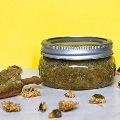 Chamomile Face Scrub - DIY face scrub with only 3 ingredients! Moisturizing and anti-inflammatory!