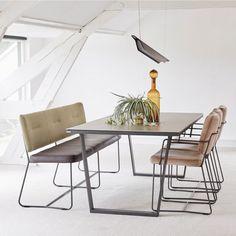 New collection 2017 - bert plantagie - blend- kiko - furniture - design - living - ceramic - chair Pots, Dining Bench, Dining Room, Design Tisch, Attic Rooms, Diy Interior, Blue Walls, Wall Design, Designer