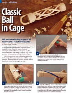 Carving Ball in Cage - Wood Carving