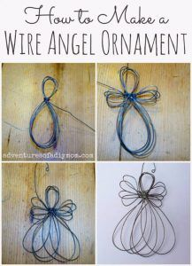 Best DIY Ornaments for Your Tree - Best DIY Ornament Ideas for Your Christmas Tree - Wire Angel Ornament - Cool Handmade Ornaments, DIY Decorating Ideas and Ornament Tutorials - Creative Ways To Decorate Trees on A Budget - Cheap Rustic Decor, Easy Step by Step Tutorials - Holiday Crafts for Kids and Gifts To Make For Friends and Family http://diyjoy.com/diy-ideas-christmas-tree