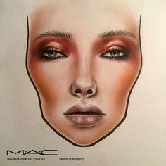 Made by @makeupbrock #facechart #art